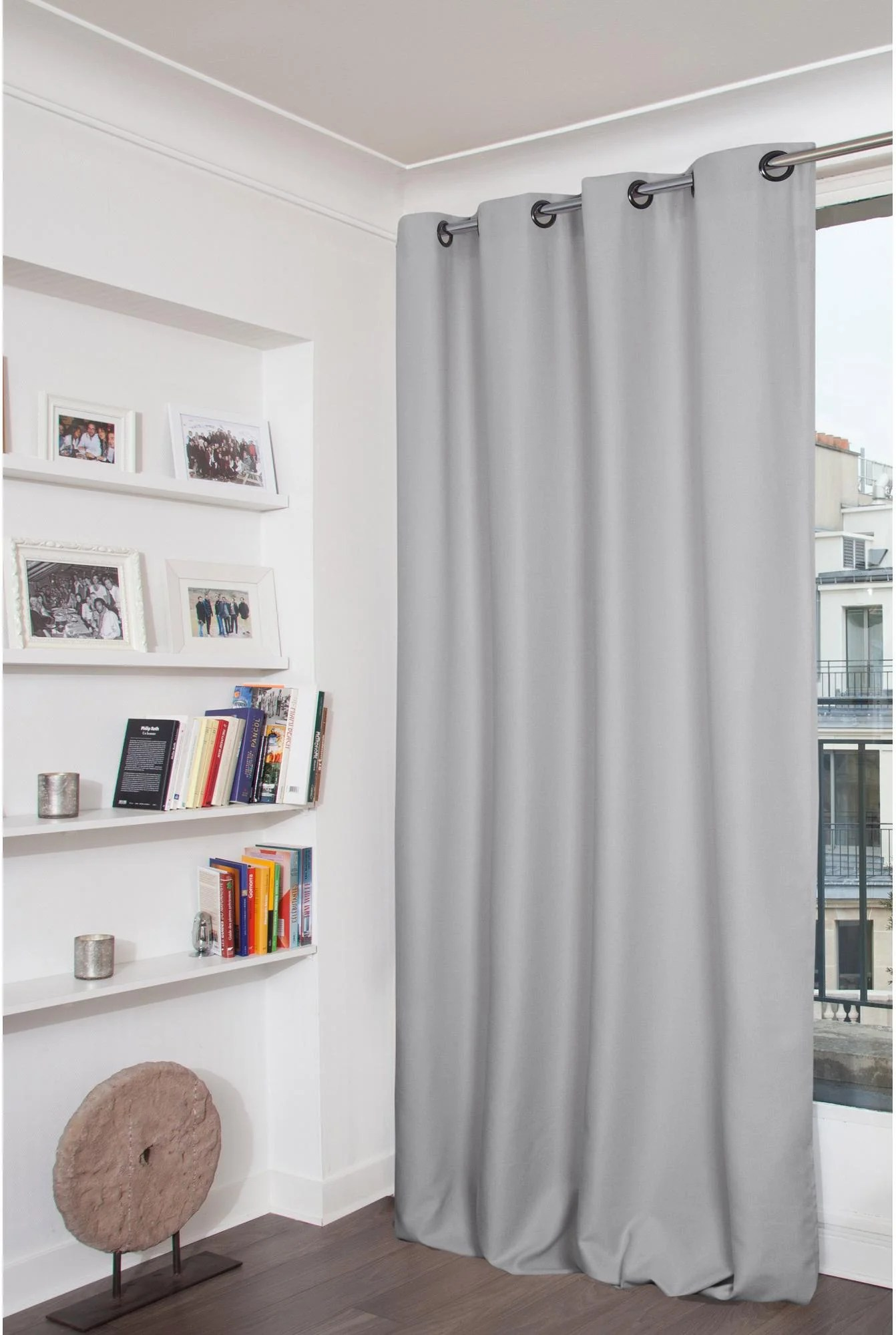 Store Banne Coffre Everest Rideau Tamisant Everest Gris Galet L 140 X H 260 Cm Moondream