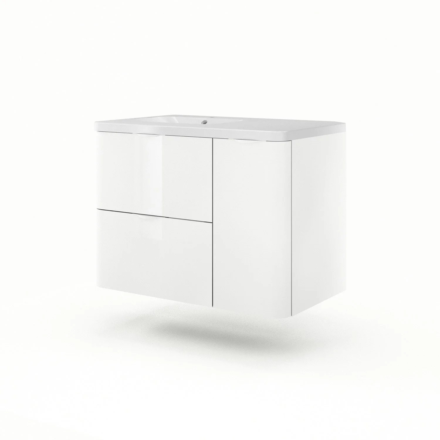 Meuble Vasque 90 Cm Meuble Vasque 90 Cm Blanc Neo Shine Leroy Merlin