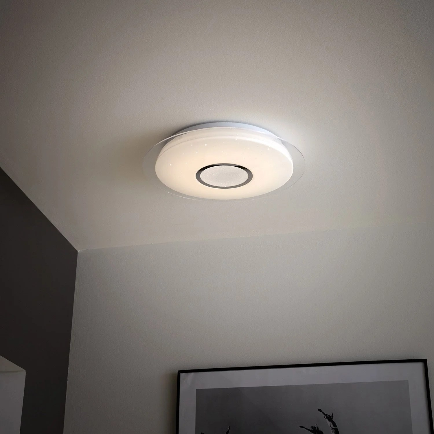 Plafonnier Led Vizzini Ceiling Built In Led Design Plastic Vizzini White 1 X 25 W Inspire