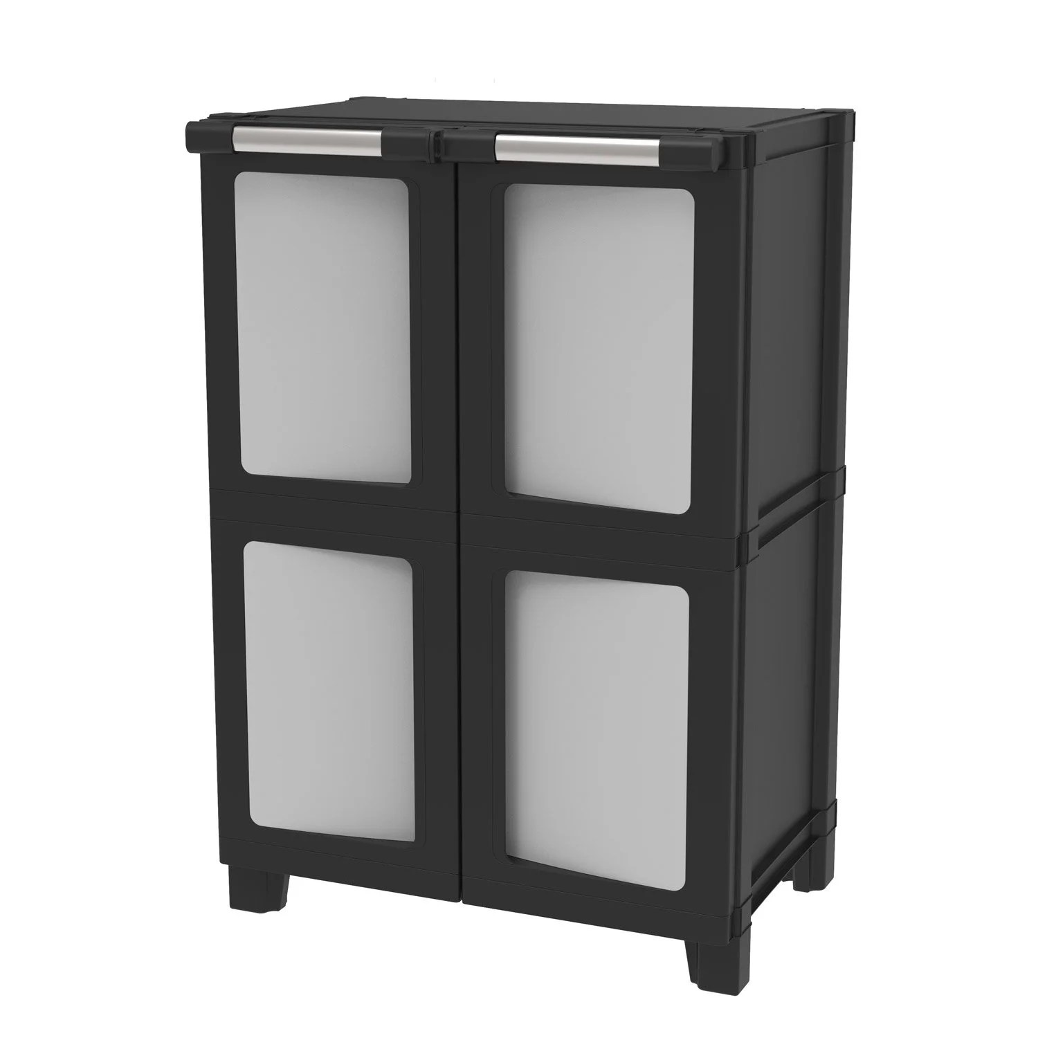 Spaceo Armoire Basse Plastique 1 Eacutetag Egravere Spaceo Modulize L65