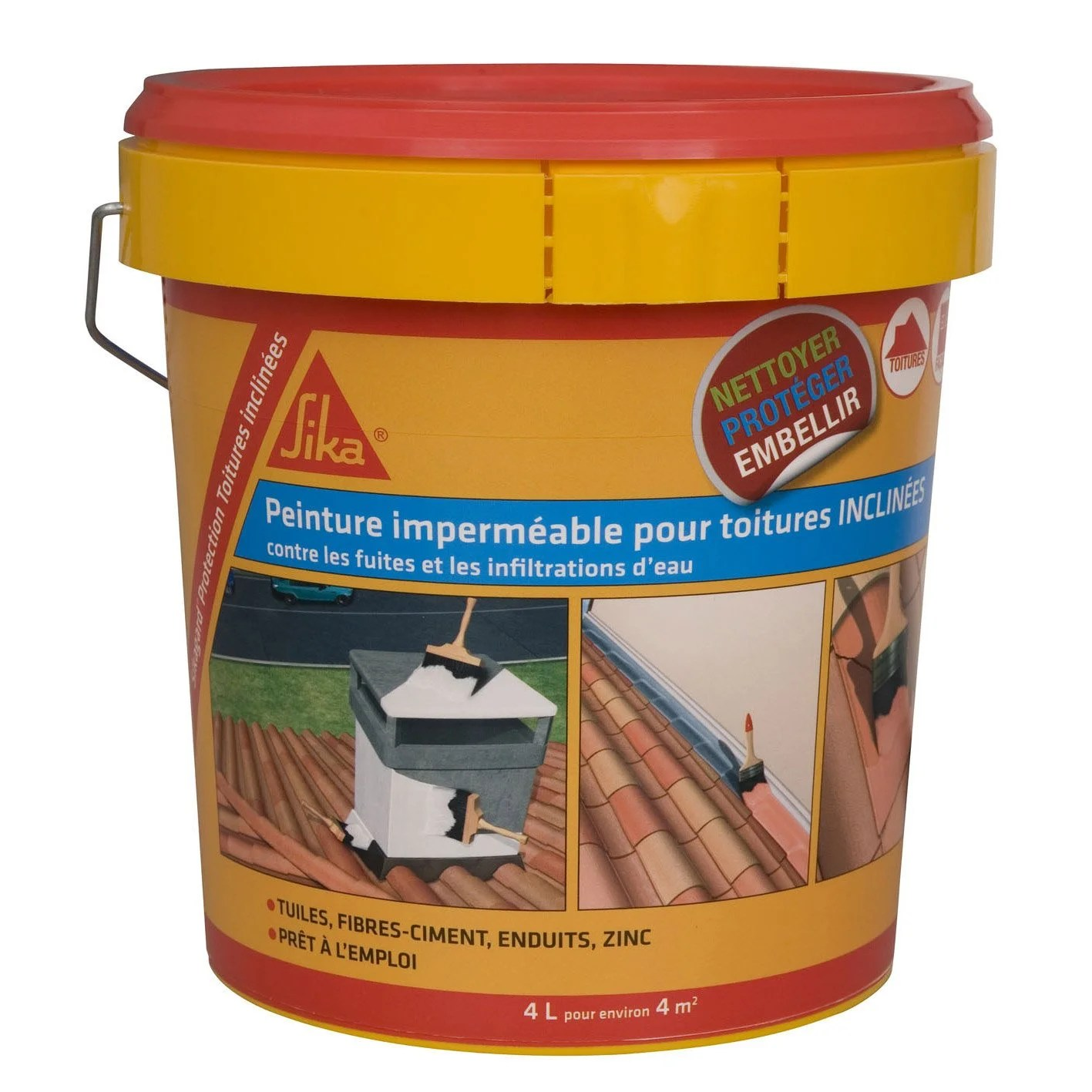 Hydrofuger Un Mur Imperméabilisant Sika Sikagard 4 L Terre Cuite Leroy Merlin