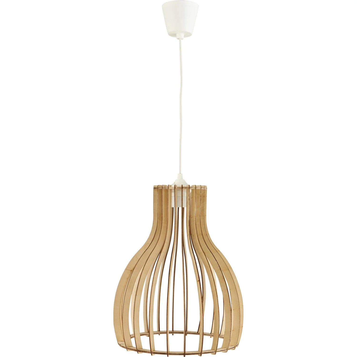 Applique Liseuse Leroy Merlin Suspension, E27 Helsinki Bois Bois Naturel 1 X 60 W