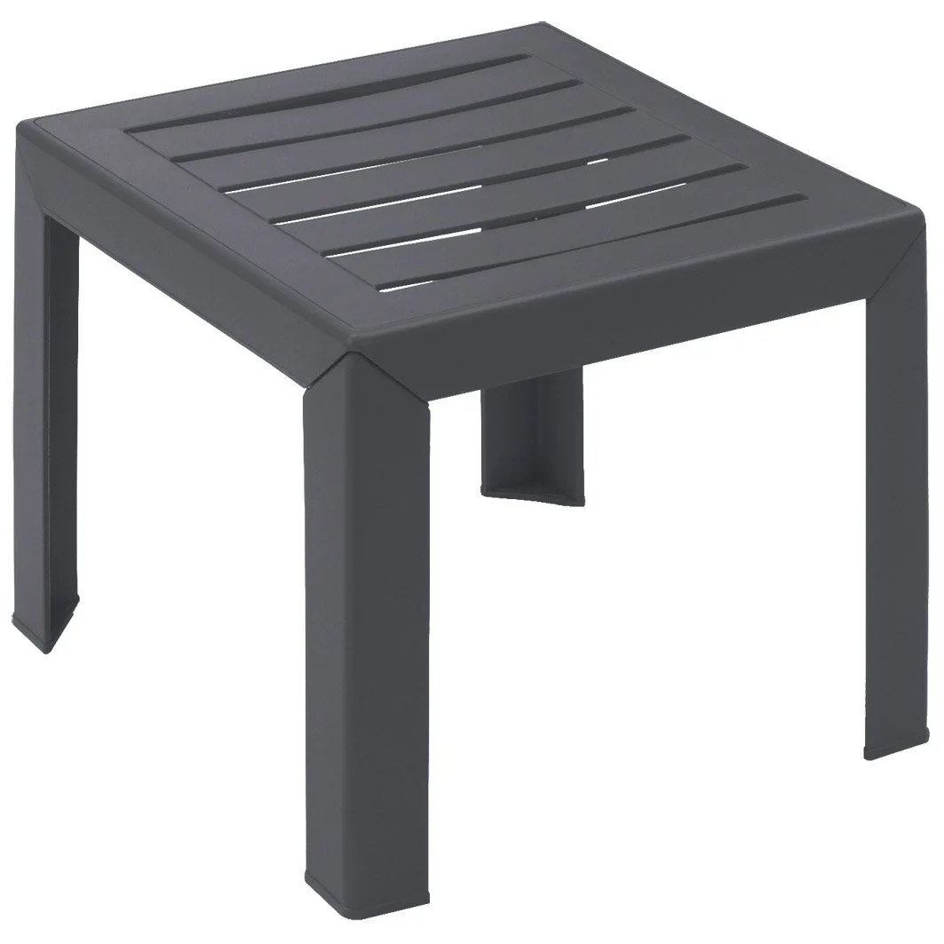 Pouf 2 Personnes Table Basse Grosfillex Miami Carrée Anthracite 2 Personnes