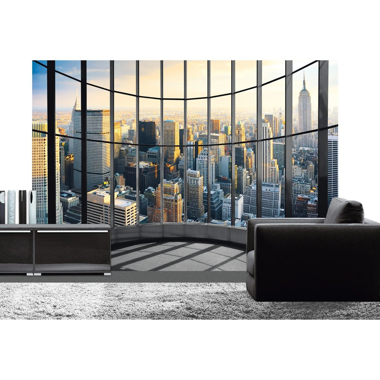Tapisserie New York Leroy Merlin Poster Xxl De Mur Office View Deco Wall L 366 X H 254 Cm