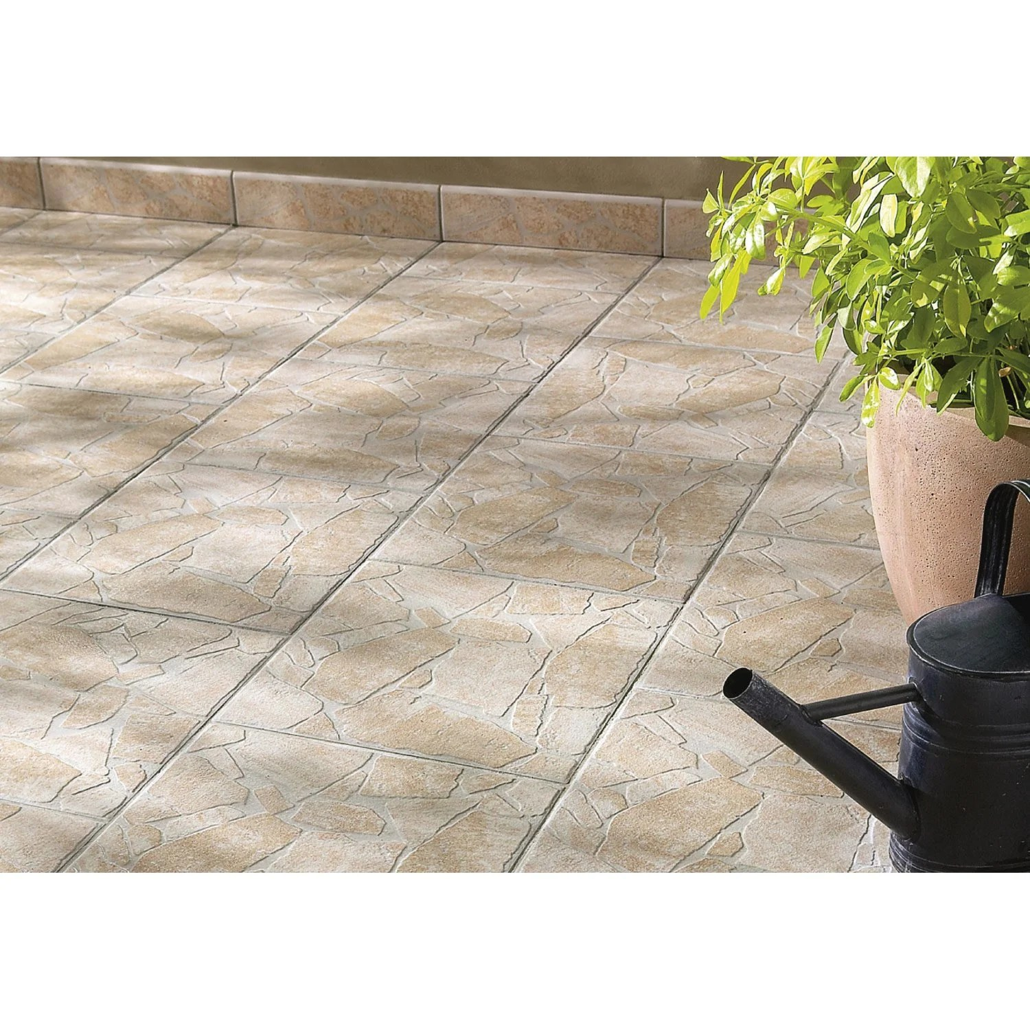 Dalle Carrelage Exterieur Point P Carrelage Sol Beige Aspect Pierre Opus 350 Beige L.35 X L