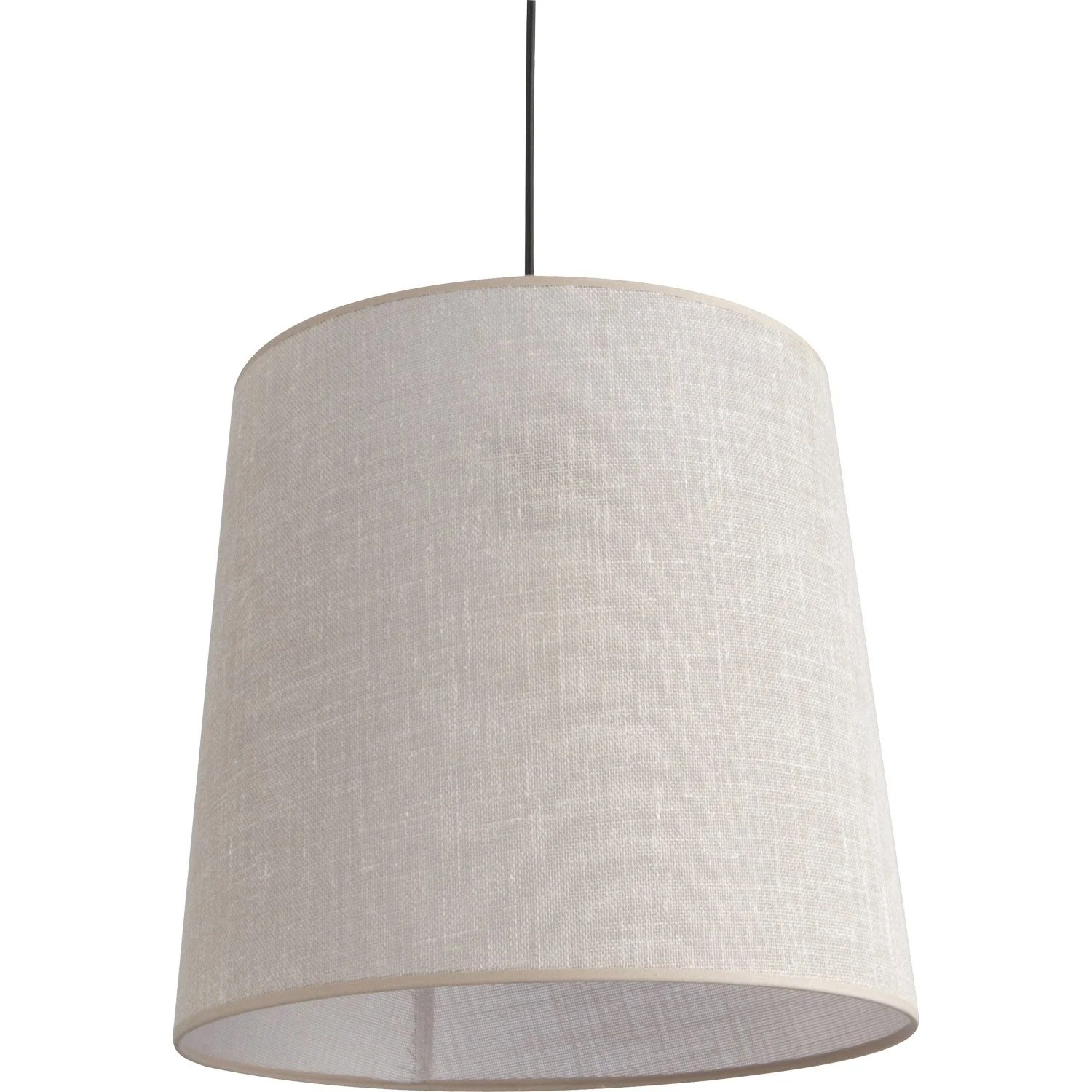 Suspension Lin Suspension E27 Design Conique Lin Taupe 1 X 100 W Corep