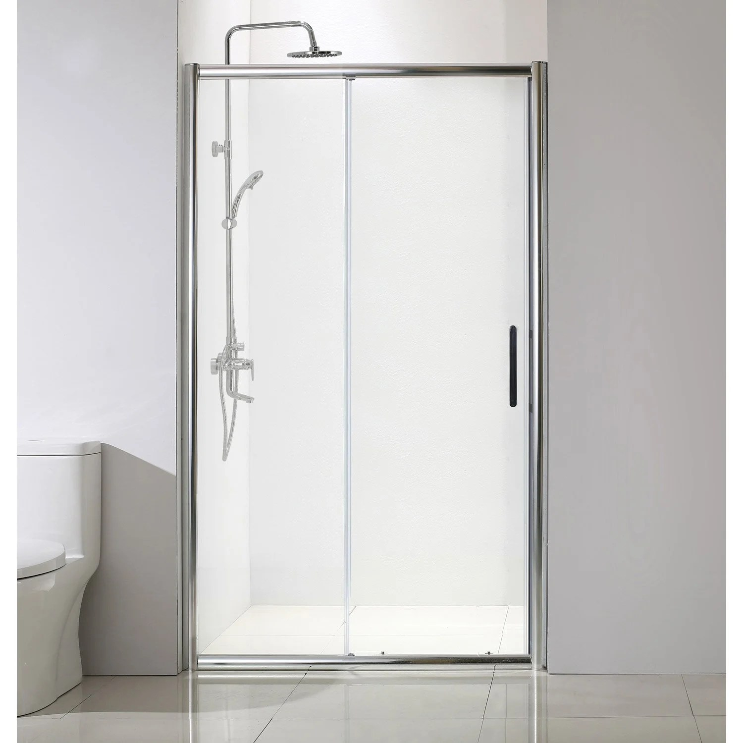 Porte Coulissante Magasin Porte De Douche Coulissante 120 Cm Transparent Quad