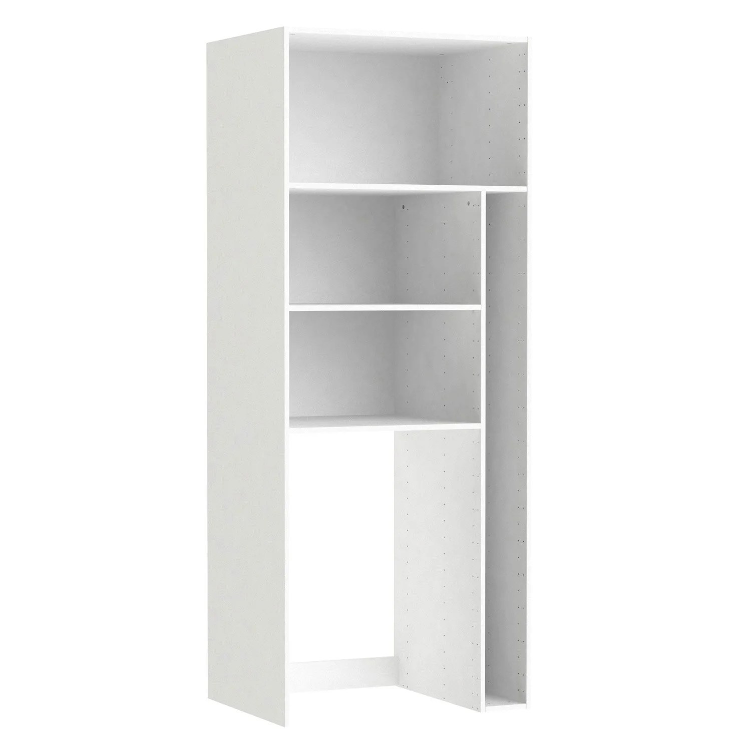 Armoire Cellier Caisson Buanderie Spaceo Home 200 X 80 X 60 Cm Blanc