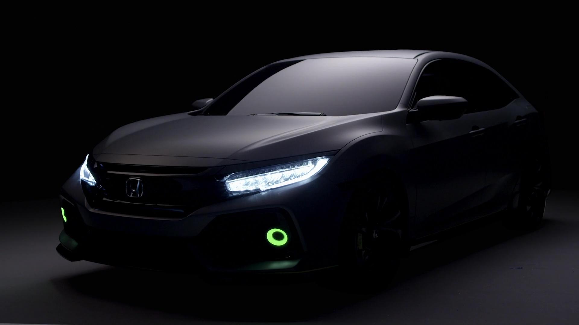 Wallpaper Black Dark Honda Civic Hatchback Prototype Goes Live In Geneva Early
