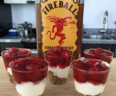 Whiskey Cheesecake Shots