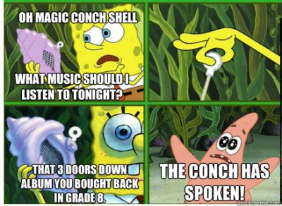 Magic Conch Shell memes | quickmeme