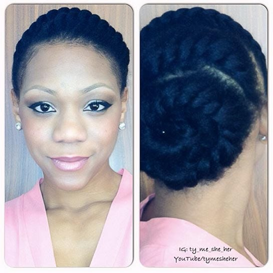 Quick Easy Protective Hairstyles For Natural Hair cvfreeletters