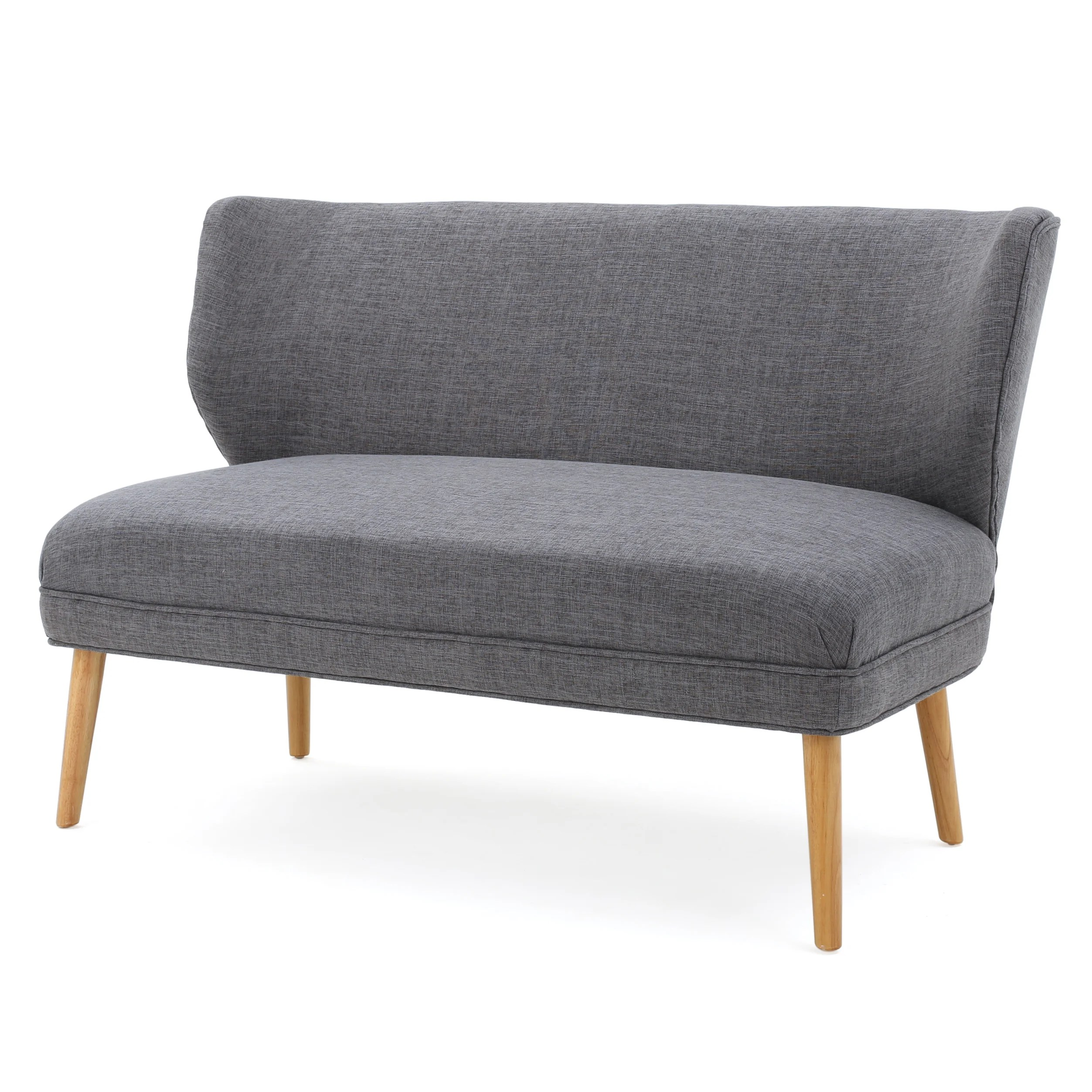 Settee Loveseat Noble House Ardine Mid Century Modern Fabric Loveseat Sofa