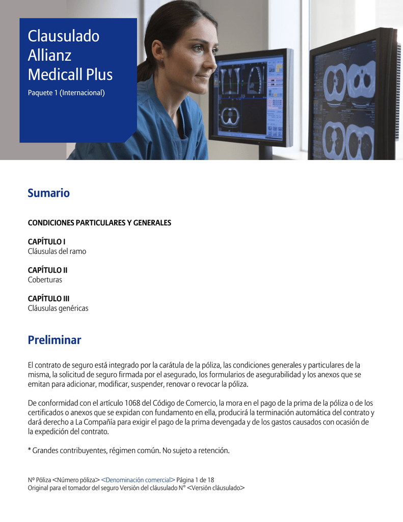 Allianz Cuadro Medico Clausulado Allianz Medicall Plus