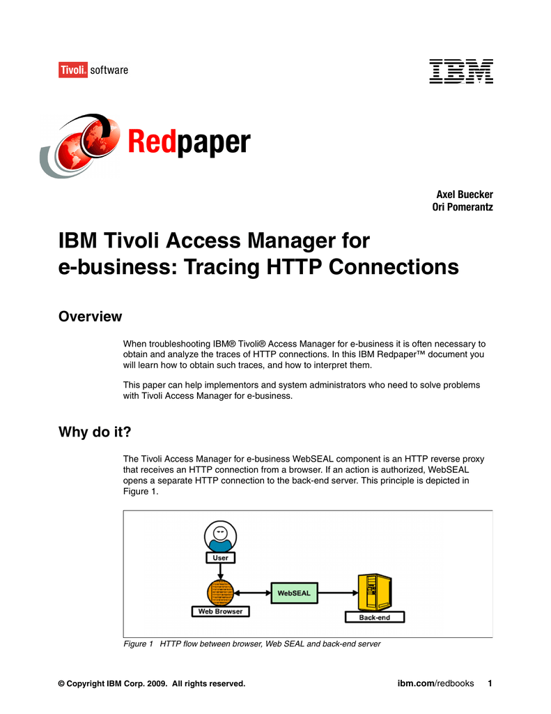 Tivoli Access Manager Session Management Server Red Paper Ibm Tivoli Access Manager For E Business Tracing Http