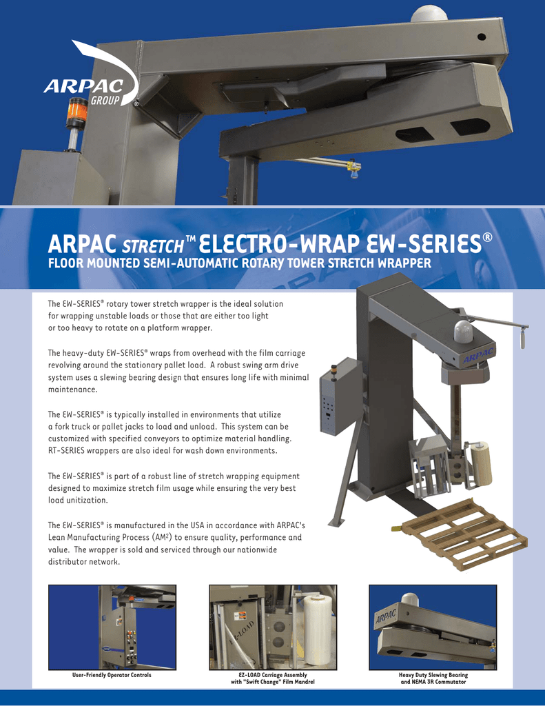 Ew Series Arpac Electro Wrap Ew Series Stretch