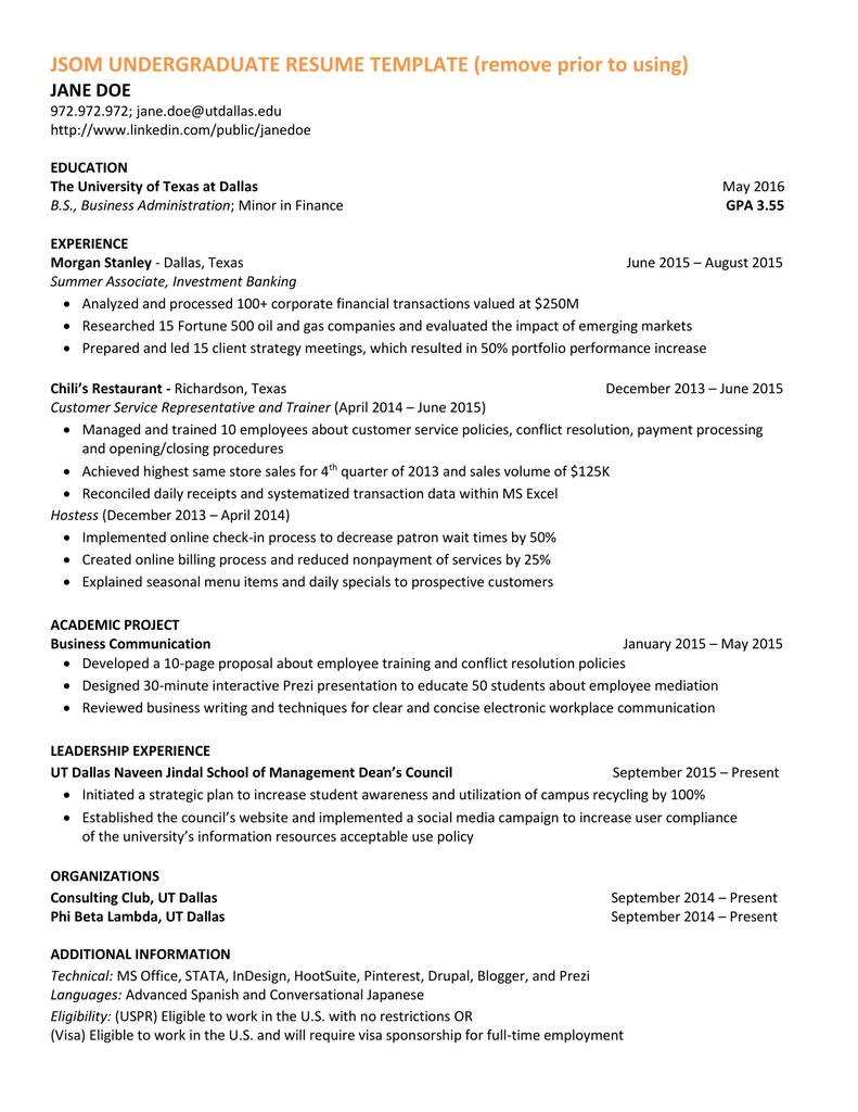 jsom resume template
