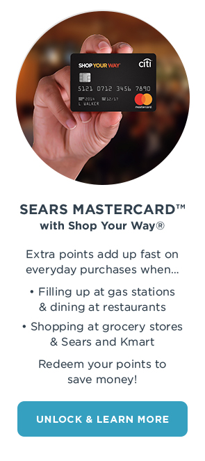 Sears Mastercard Shop Your Way Online Shopping  Earn Points on