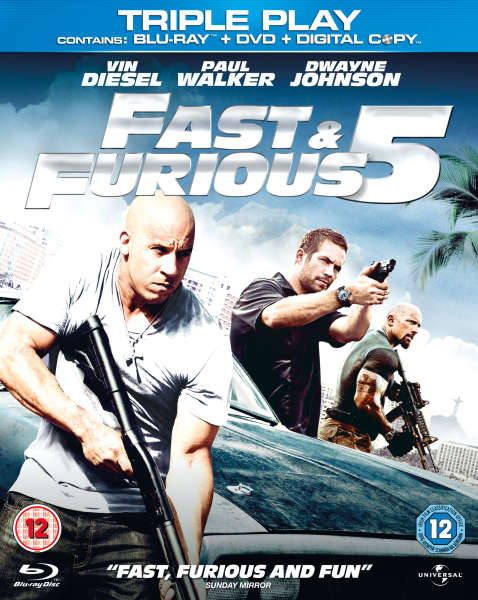 Red Star 3d Wallpaper Fast And Furious 5 Triple Play Blu Ray Dvd And Digital