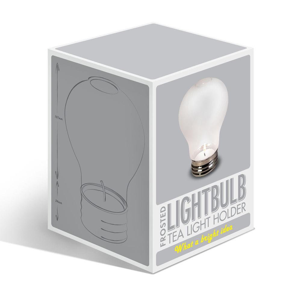 Lightbulb Tea Light Holder Frosted Iwoot