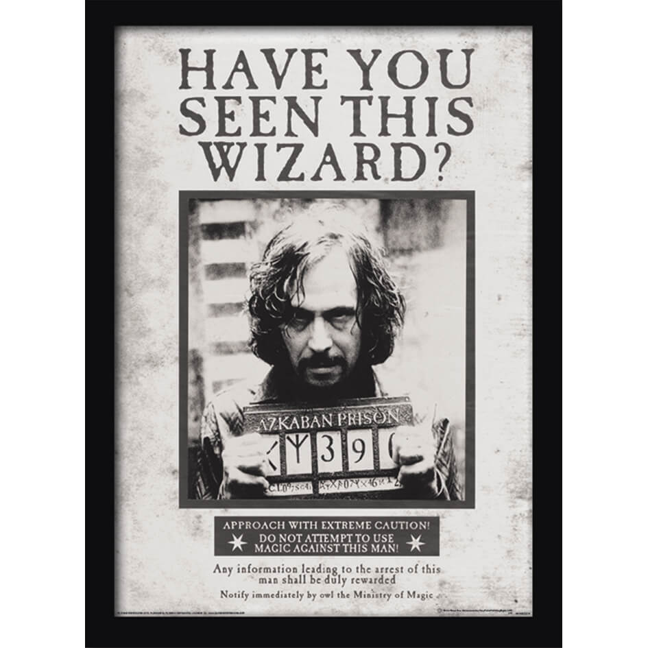 Poster Harry Potter A Imprimer Harry Potter Sirius Wanted Framed 30 X 40cm Print