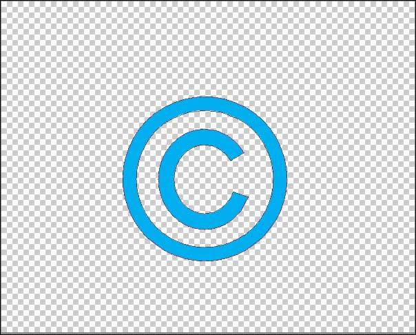 copyright symbol on new blank file problem Photoshop Elements  More