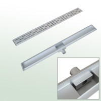 Stainless Steel Floor Shower Wet Room Linear Drain Siphon ...