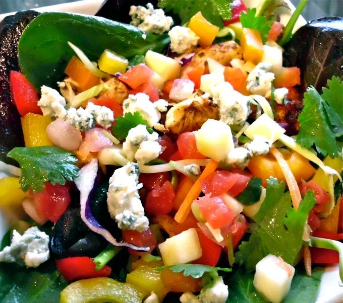 Paleo Chicken Mango Salsa Salad with Chipotle Lime Vinaigrette
