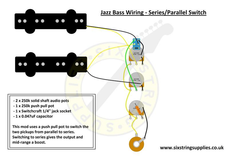 Six String Supplies \u2014 Jazz Bass Wiring Series Parallel