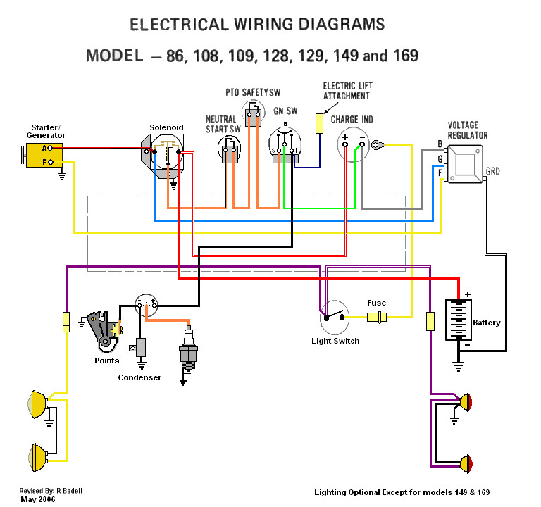 1450 Cub Cadet Schematic Index listing of wiring diagrams