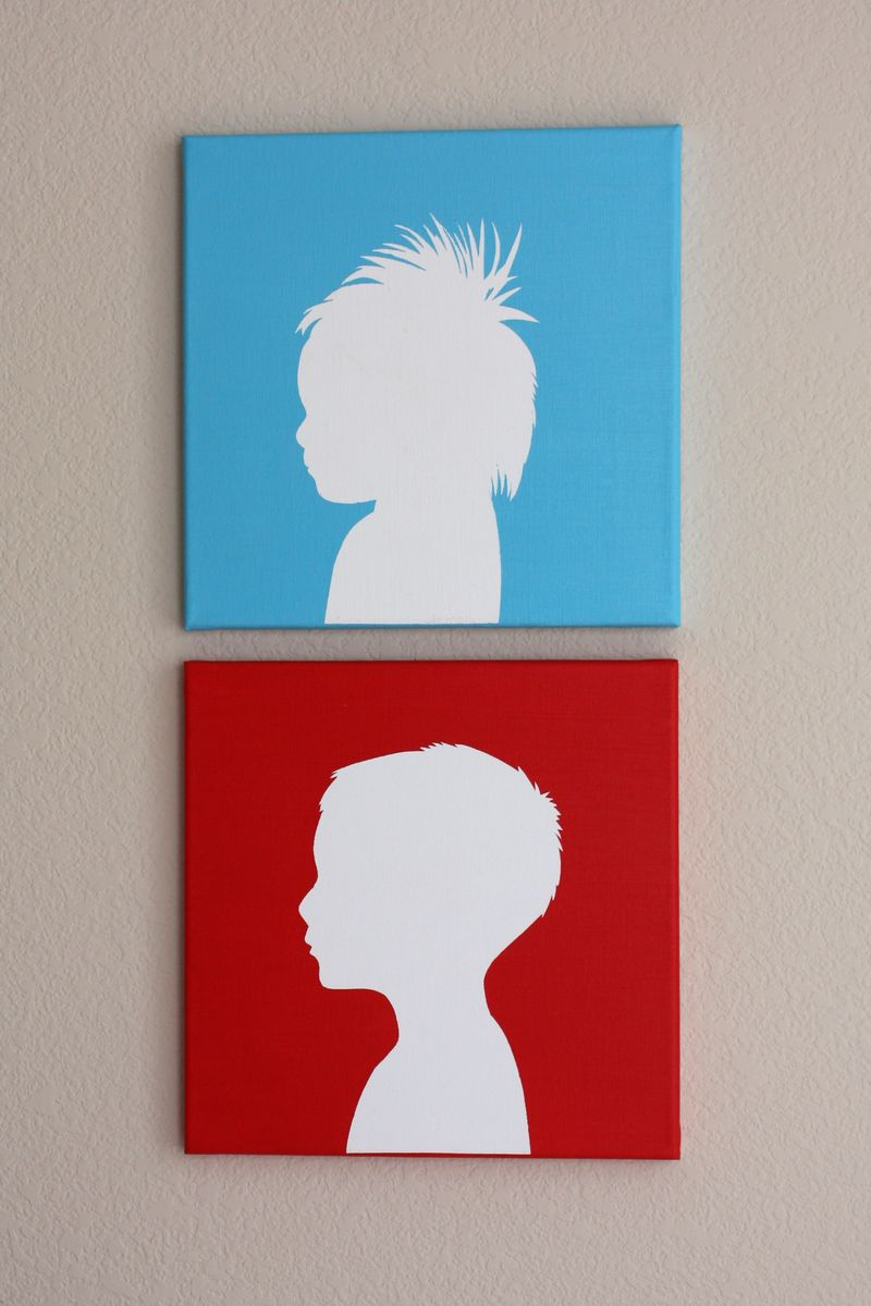 Canvas Silhouettes Crate Kids Blog
