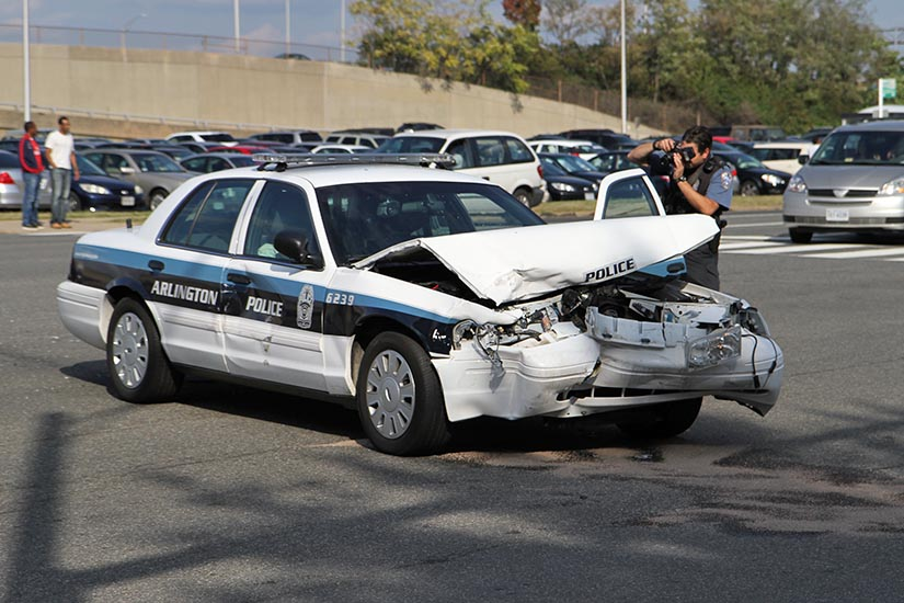 Collision Involving ACPD Cruiser in Pentagon City ARLnow