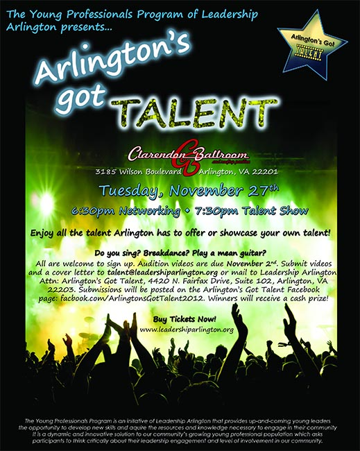 Audition Tapes Sought for \u0027Arlington\u0027s Got Talent\u0027 ARLnow - talent show flyer