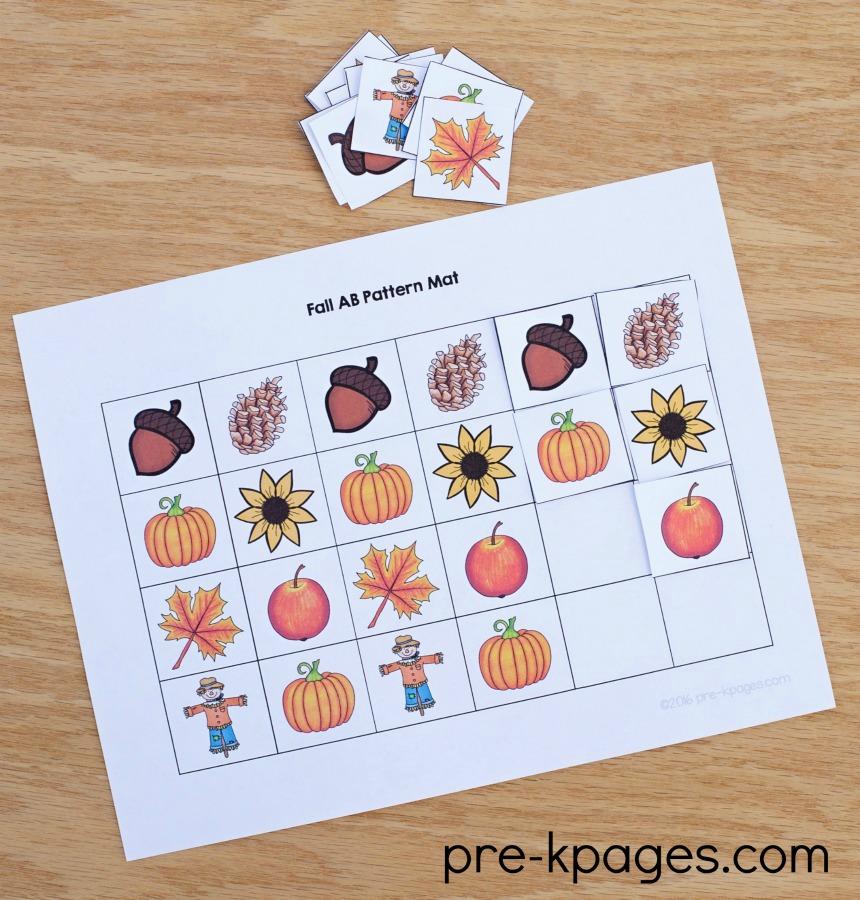 Fall Theme Preschool Activities