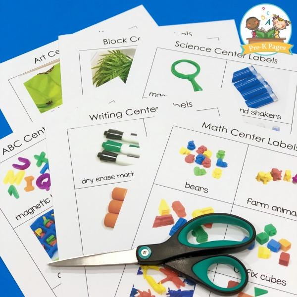 Editable Center Labels - Pre-K Pages
