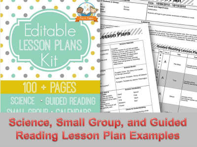 Printable Lesson Plans for Preschool, Pre-K, and Kindergarten - preschool lesson plan
