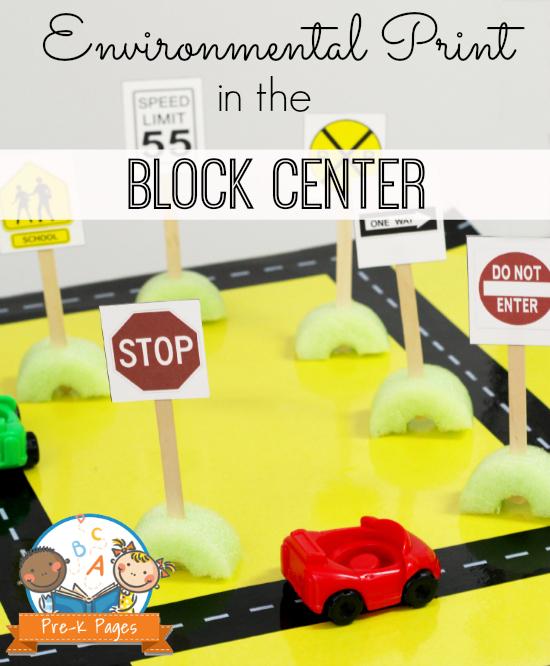 Environmental Print in the Block Center