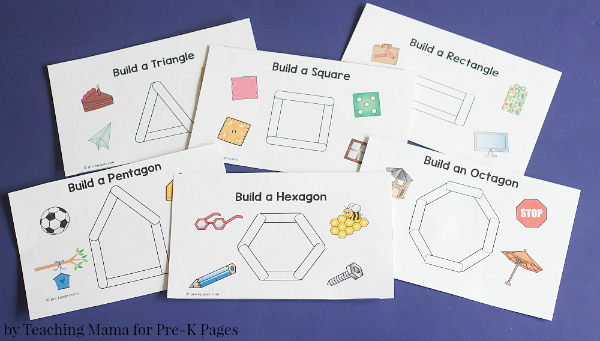 Building Shapes with Craft Sticks - Pre-K Pages
