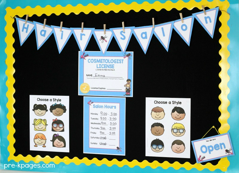 Hair Salon Dramatic Play Printables - Pre-K Pages
