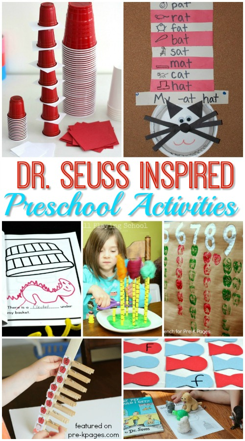 Dr Seuss Activities for Preschoolers - Pre-K Pages