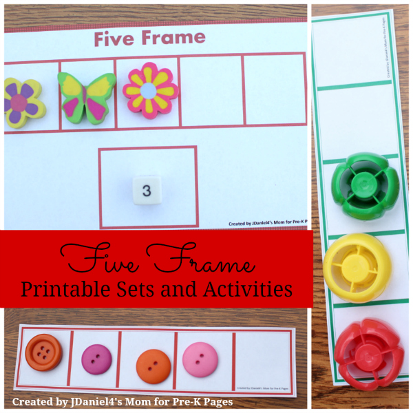 Five Frames Activities for Preschool - Pre-K Pages