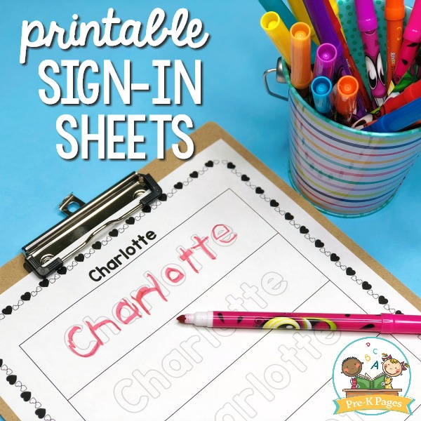 Daily Sign In Sheets for Your Preschool Classroom - Pre-K Pages