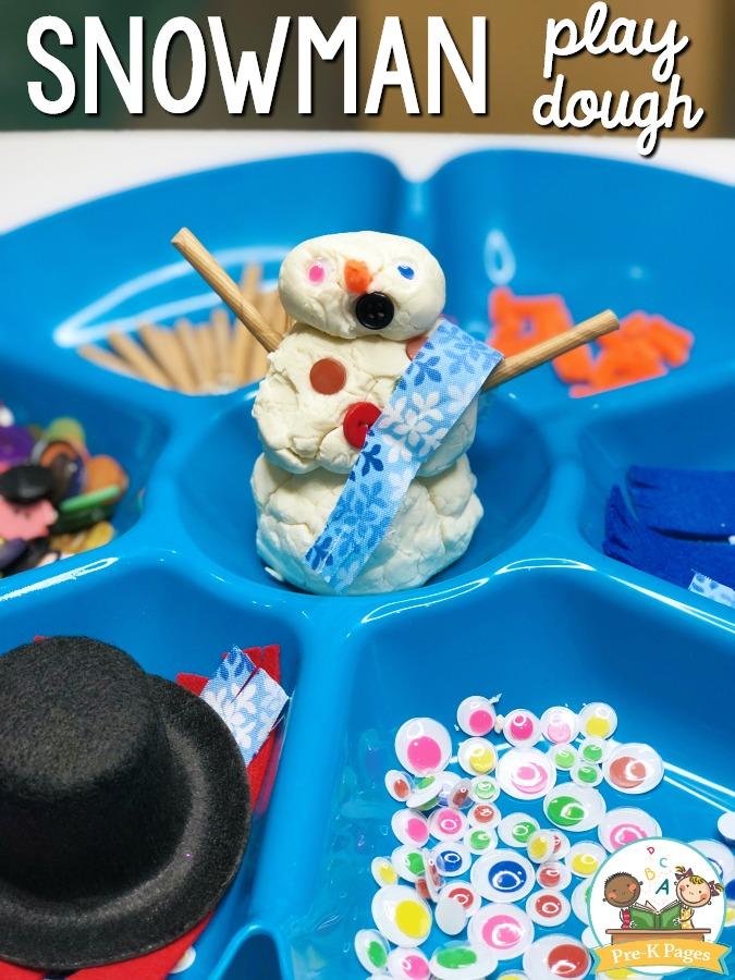 Snowman Play Dough - Pre-K Pages