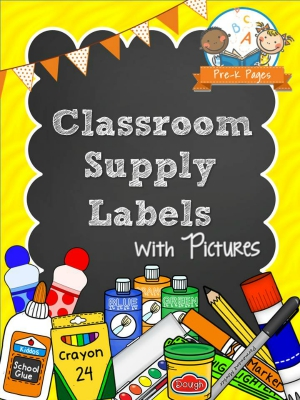 Printable Classroom Supply Labels - Pre-K Pages
