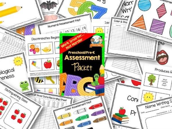 Preschool Assessment Forms Report Card Progress Report