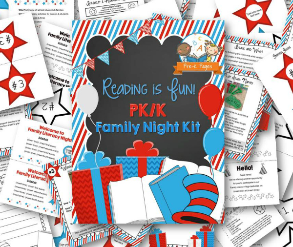 Reading is Fun Family Literacy Night Kit - Pre-K Pages