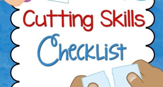 Cutting Skills Checklist - Pre-K Pages