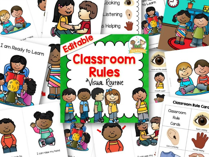 Classroom Rules - Pre-K Pages