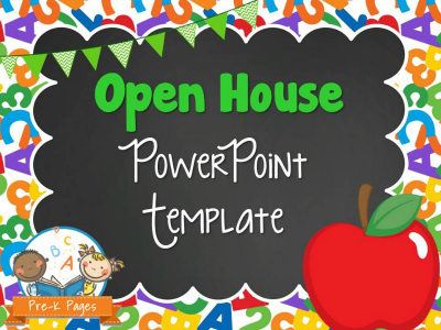School Theme Open House PowerPoint - Pre-K Pages