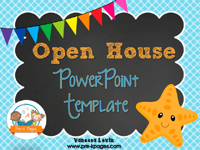 Starfish Open House PowerPoint - Pre-K Pages